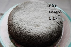 Bizcocho nevado de chocolate